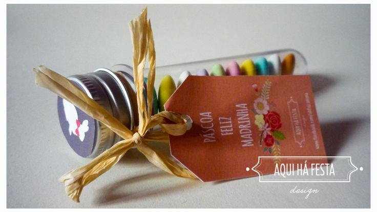 Plastic tube customized with chocolate almonds