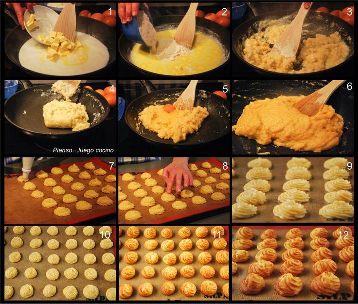 http://www.petitchef.es/recetas/postre/pestinos-cordobeses-fid-1558722     buñuelos.> Profiteroles Pienso..luego cocino: Profiteroles, paso a paso