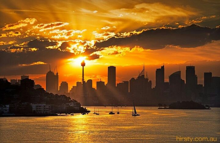 Sydney skyline...riding a ferry at sunset is epic...