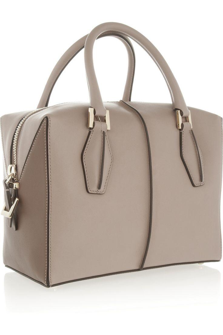 Tod's   D-Cube Bauletto medium leather tote   NET-A-PORTER.COM