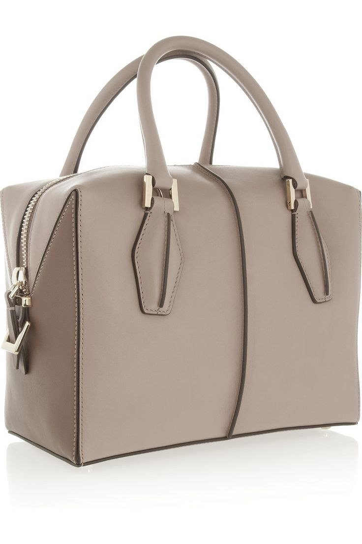 Tod's | D-Cube Bauletto medium leather tote | NET-A-PORTER.COM