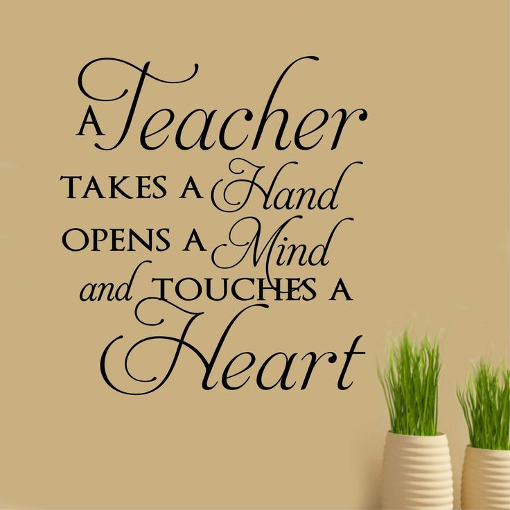 Vinyl Wall Lettering Teacher Appreciation Touches a Heart Quote Decal