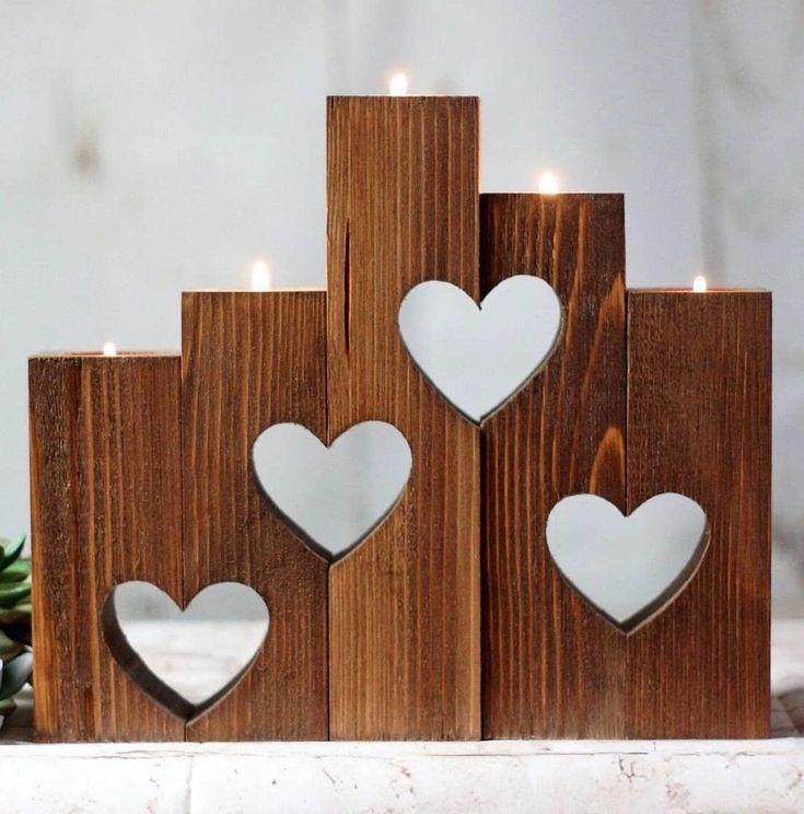 5'li Masif Mumluk (Kalp Motifli) Farklı boyutlardaki parçalardan oluşan v…