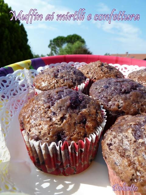 Muffin Ai Mirtilli E Confettura
