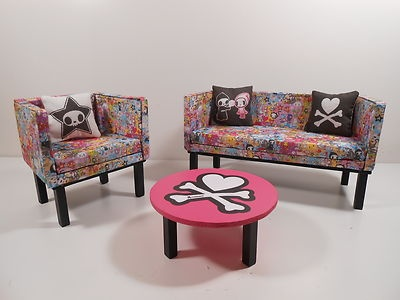 This Is Serious Stuff Barbie Furniture Limited Tokidoki Themed 6 Piece Living Room Set 10 Of 10