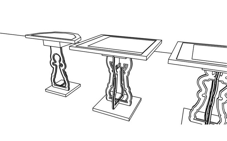 Chess Board Table - 2D Plans