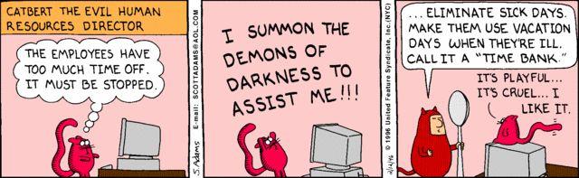 Catbert and Phil conspire | Comics | Hr humor, Comics ...