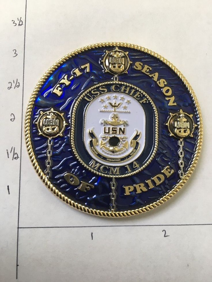 Uss Chief Cpo Challenge Coin Navy Chief Challenge Coin
