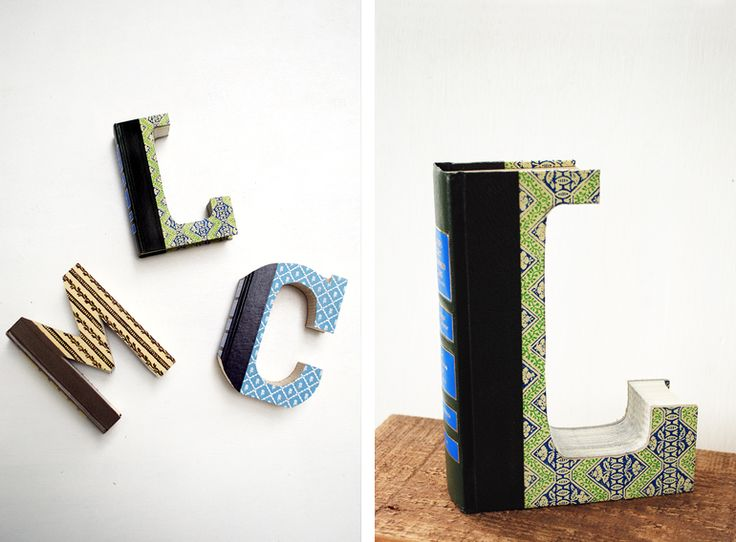 I can make this! and her letter choices are awesome :: DIY Book Letters | The Merrythought
