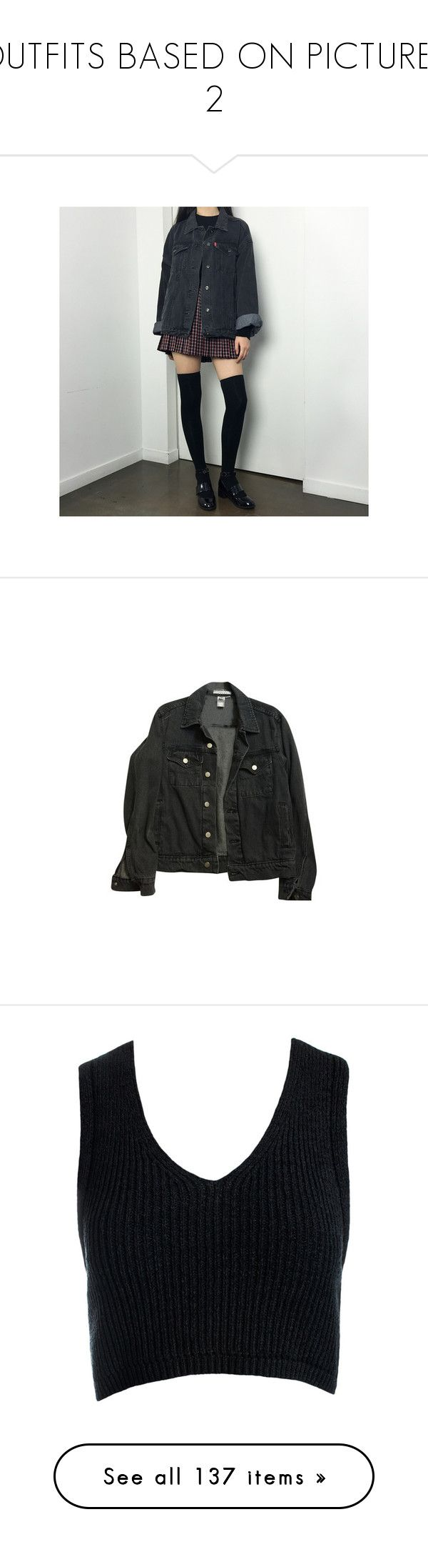 """""""OUTFITS BASED ON PICTURES 2"""" by thundxrstorms ❤ liked on Polyvore featuring outerwear, jackets, tops, coats & jackets, unisex jackets, american apparel jacket, denim jacket, american apparel, jean jacket and crop tops"""