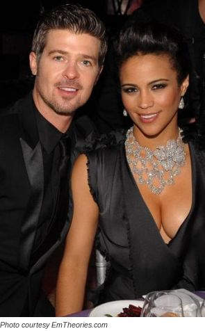 Robin Thicke & Paula Patton. A highly underrated singer (son of Win Lose or Draw host Alan Thicke) and you've probaly seen Paula in MI:4 and some other movies.