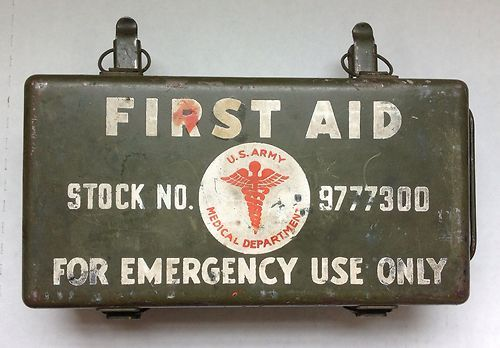 Wwii 2 Vintage First AID KIT US Army Medical BOX 9777300 FOR Jeep W Contents | eBay