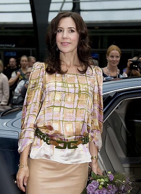 Danish Crown Princess Mary in Rützou blouse