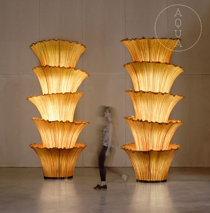 a huge custom made Morning Glory column, made for a specific public space