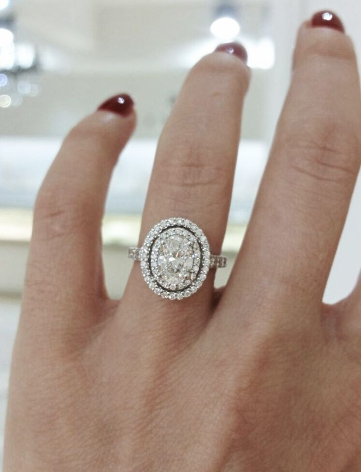 25 cute double halo engagement ring ideas on pinterest. Black Bedroom Furniture Sets. Home Design Ideas