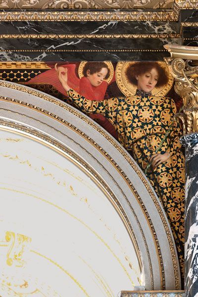 fine fine Wall Detail in the Kunsthistorisches Museum in Vienna by Gustav Klimt …