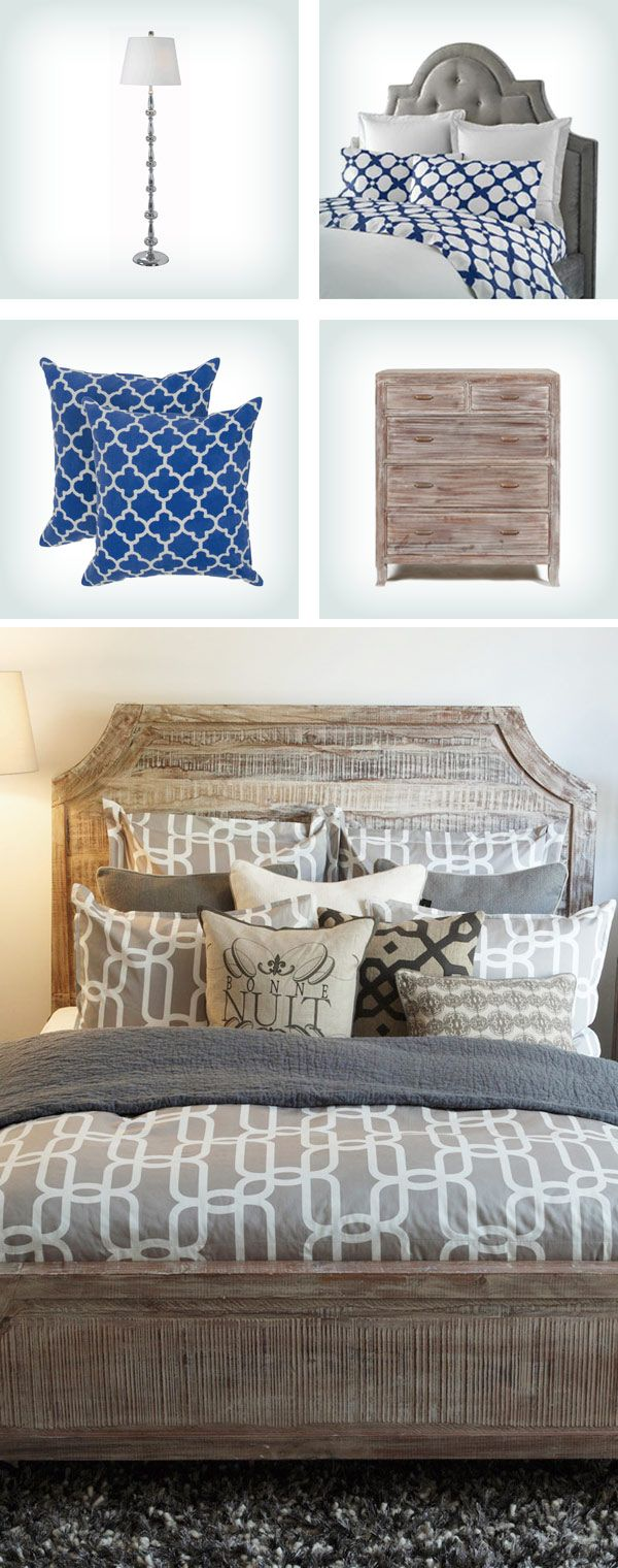 Wayfair 10 off first order - Rustic Meets Modern In This Relaxing Bedroom Space Love The Distressed Headboard With The Modern Pattern In The Duvet Cover