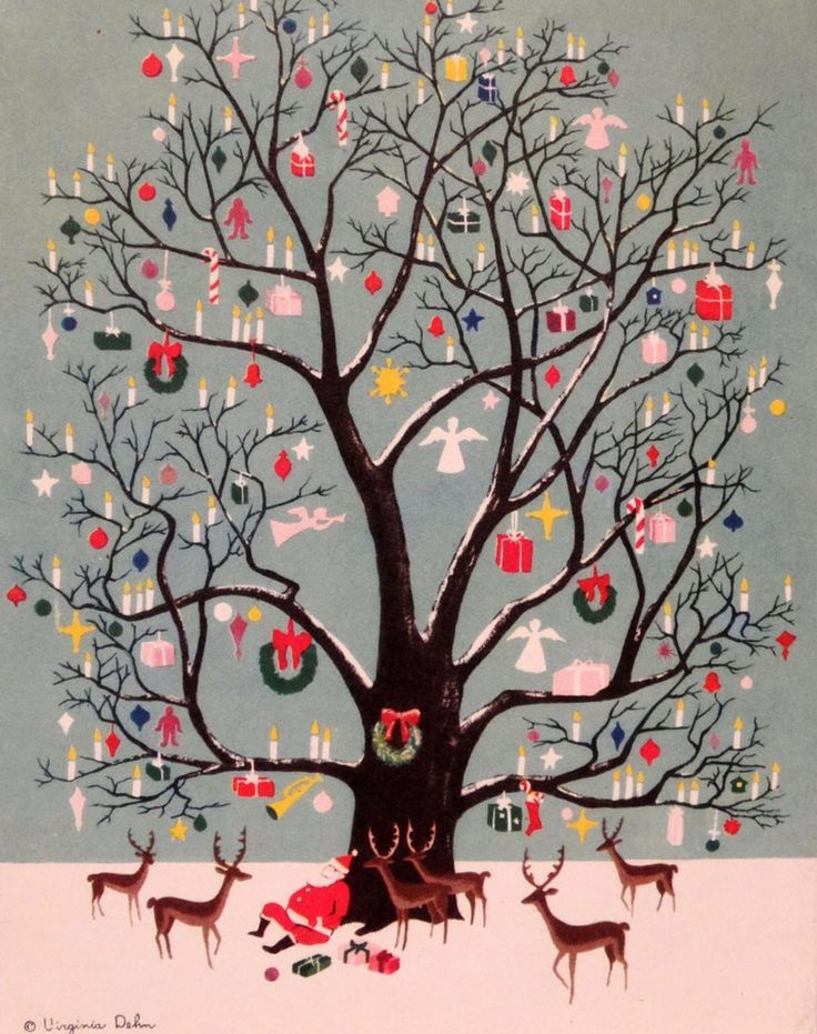 There is a queen in China     – thewoodbetween:   A vintage Christmas card.  Merry...