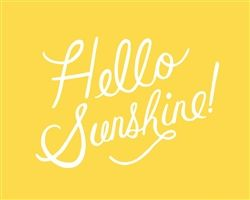 Hello Sunshine! So glad that you have arrived!