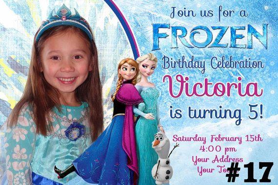 Disney Frozen Invitation with Photo /  Birthday Party Invite  You Print  Digital File