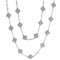 van cleef u0026 arpels diamond gold alhambra necklace and bracelet
