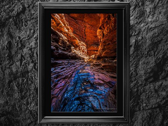 Karijini Reflection Photography Print for wall by NadbradDesigns