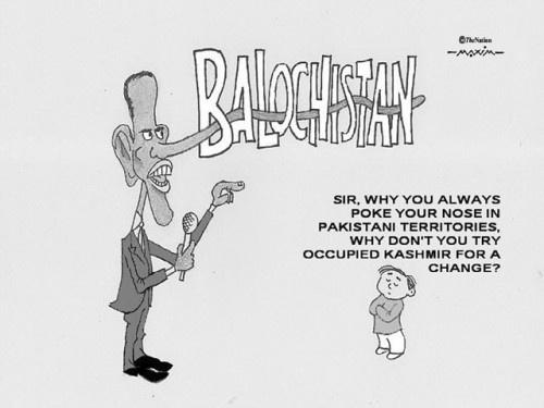 Political cartoon from Pakistani newspaper
