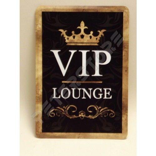 Retró Fém Képeslap - VIP Lounge - VIP Társalgó, Tárgyaló - Fém képeslapok - PeterStore Webáruház - Exkluzív Ajándékok És Szobrok, Egyedi Különleges Dísztárgyak, Kerti Díszek