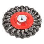 Forney 4 in. x M10 x 1.25 Arbor Twist Knot Wire Wheel Brush