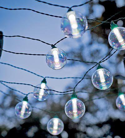25 Bulb Solar-Powered Globe String Lights, In Clear