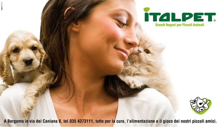 CLIENTE Italpet. Adv per Italpet, grandi negozi per piccoli animali. #adv #stampa #animali #pet #grafica #pubblicità
