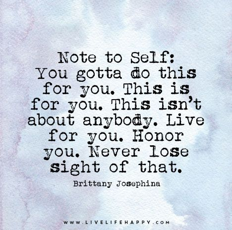 You Gotta Do This for You