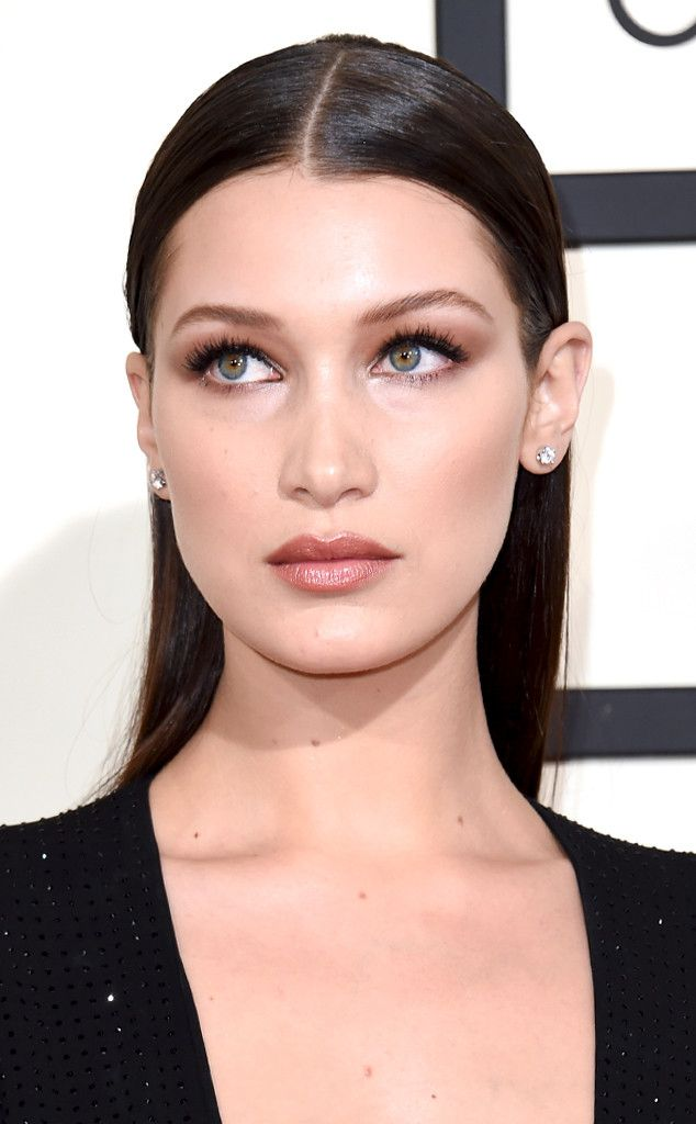 Bella Hadid from Best Beauty at the 2016 Grammys  Another play on usual smoky eye was Bella's barely there rendition. It gives the illusion of a done-up eye, but is a perfectly subtle way to execute it.