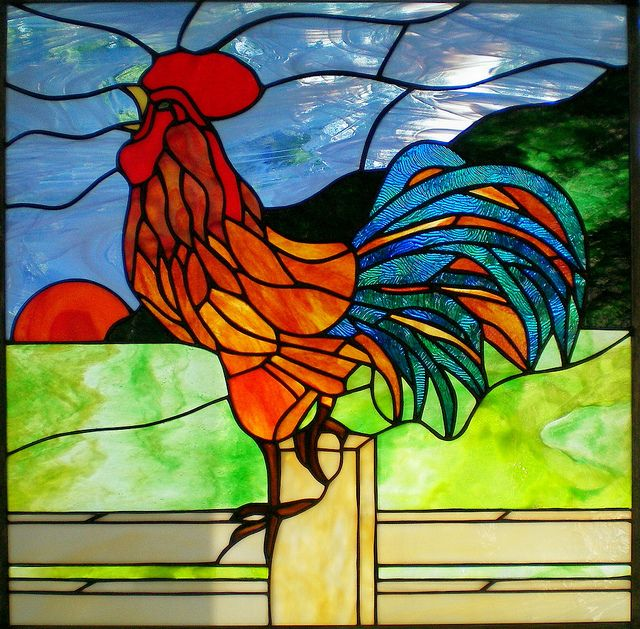 101 Best Images About Stain Glass Birds (CHICKENS) On