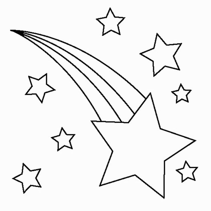 Printable Star Coloring Pages
