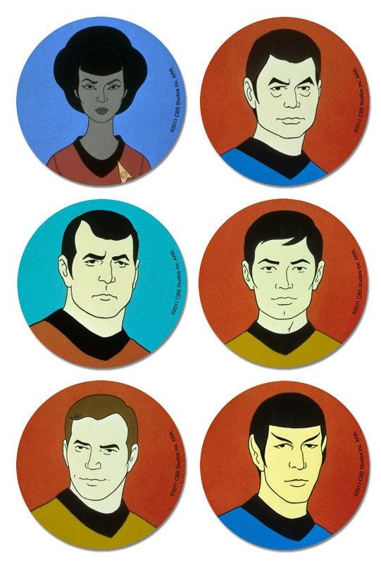 Star Trek - The Animated Series Coaster Set.