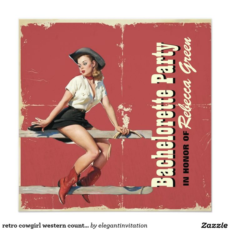 retro cowgirl western country bachelorette party