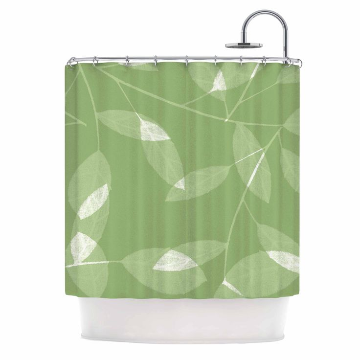 Alison Coxon Leaf Olive Green Shower Curtain Olives Shower Curtains And Products