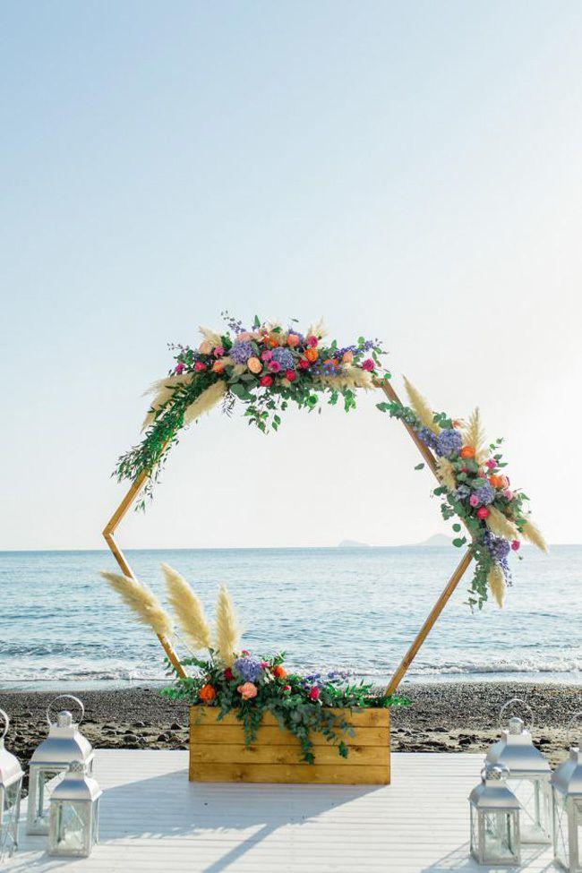 Beach Wedding Arch Ideas With Images Wedding Ceremony Arch