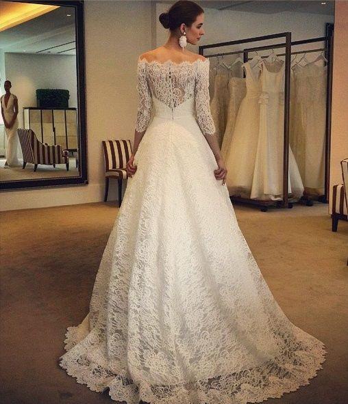 vestito da sposa maniche tre quarti - Cerca con Google