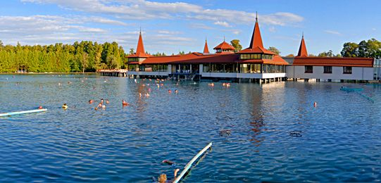 Lake Hévíz, the largest biologically active natural thermal lake. click on the image for more info! #Hungary #spa #health #wellness #healing