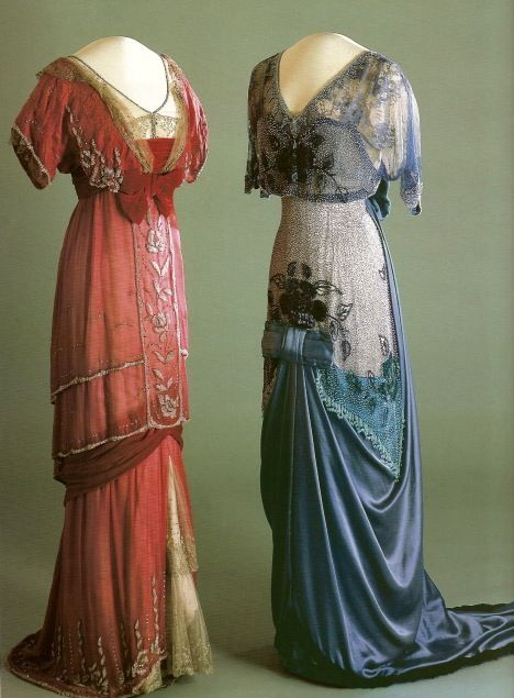 Edwardian Evening Gown | 1910 - 1913 Evening dresses worn by Maud