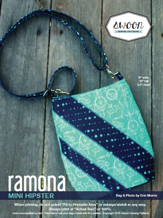 Ramona hipster purse tutorial - love this pattern! Easy and a fantastic finish