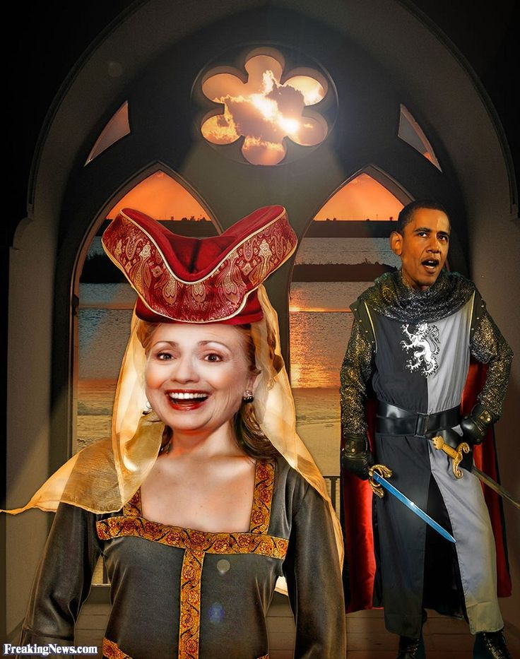 Barack Obama Knight with his Maiden Hillary Clinton