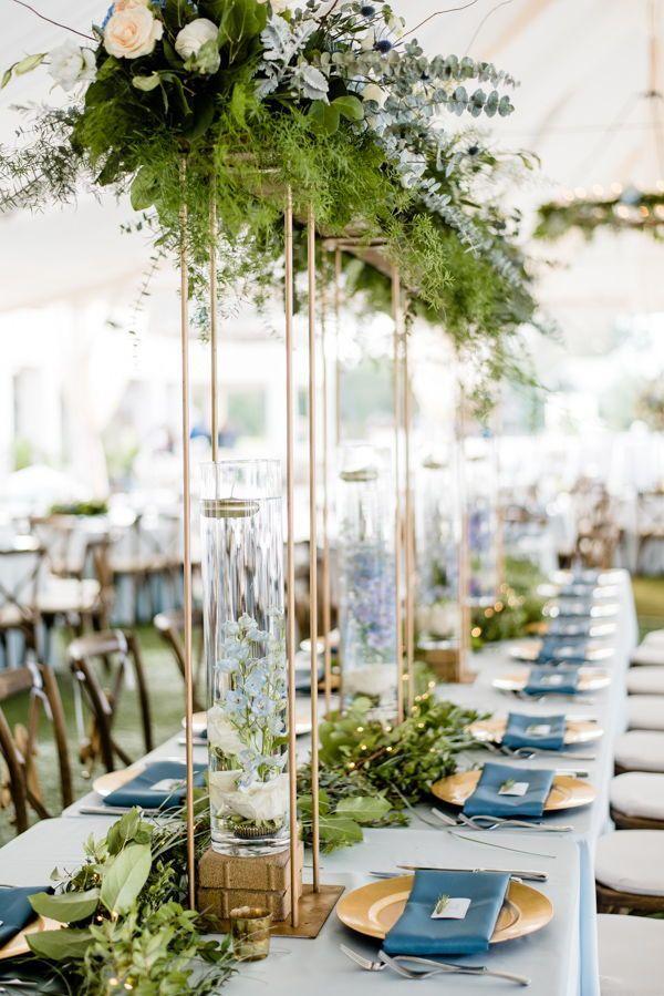 Tented Wedding Ideas Outdoor Wedding Cavalier Golf And Yacht Club Wedding Smokey Blue Wedding Ide Tent Wedding Yacht Club Wedding Wedding Table Centerpieces