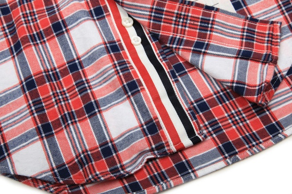 Thom Browne - Grosgrain Plaid Flannel Interior Placket Detail