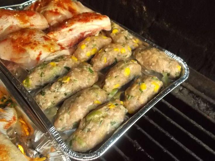 Moje Kuchenne Hobby: Ruloniki z grilla na mięsie mielonym