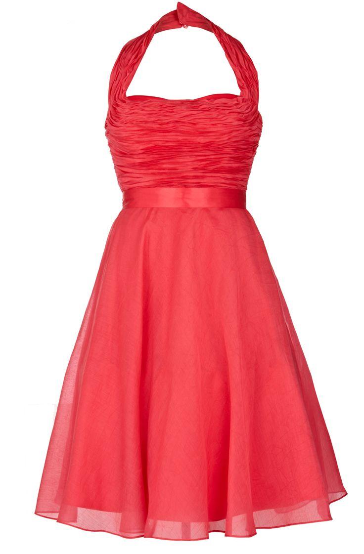 08987b92c4e53ac97c513961b3ed5f1a  halter bridesmaid dresses coral bridesmaids - Wedding Dresses Under 300