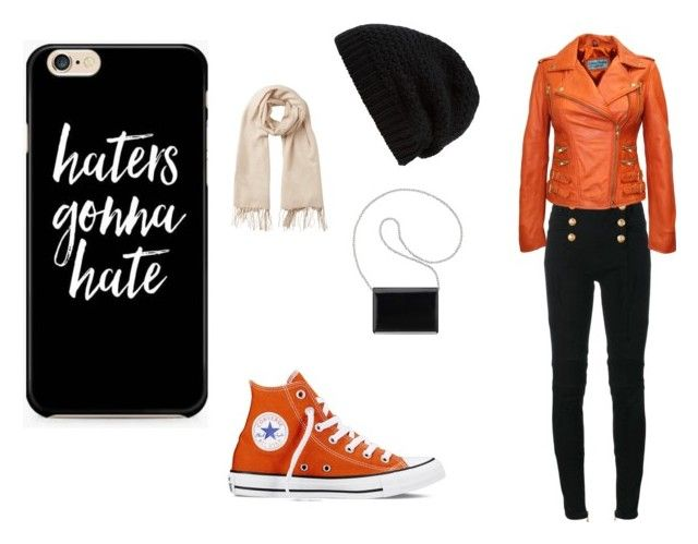 Day out by jill-nicole-1 on Polyvore featuring Balmain, Converse, Nine West, Rick Owens and Vero Moda