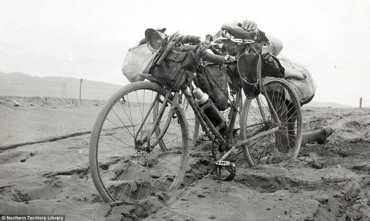 Historic photos of a 3,000km bike ride from Adelaide to Darwin | Daily Mail Online